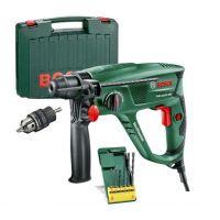 Перфоратор Bosch PBH 2500 SRE с куфар, SDS адаптерен патронник и к-т свредла SDS-plus-S2