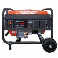 Бензинов монофазен генератор DAEWOO GD 2200 / AVR / ръчен старт, с четки / 2,2kW, 15 l