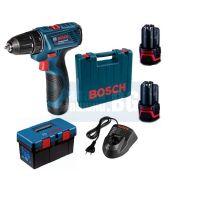 Акумулаторен винтоверт Bosch GSR 120-LI /12 V Li-ion , 1.5 Ah , 2 батерии, зарядно и куфар /
