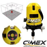 Лазерен нивелир Cimex 1H4V / обхват 10 метра, точност ± 1 mm / 10 m