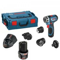 Акумулаторен винтоверт Bosch GSR 12V-15 FC + 2x 2,0 Ah батерии + L-Boxx