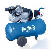 Компресор 50 литра двуцилиндров V- образен BAMAX  BX340/50CM3 / 340 л./мин. ; 9 бара /