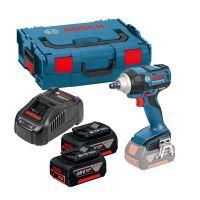Акумулаторен ударен гайковерт Bosch GDS 18 V-EC 250 Professional /2х5Ah, L-Boxx, Gal 1880 CV, 1,9кг/