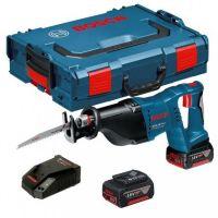 Акумулаторен саблен трион Bosch GSA 18 V-Li /2x5Ah, L-BOXX, GAL 1880 CV/
