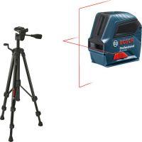 Самонивелиращ се 2 линеен лазерен нивелир Bosch GLL 2-10 + Статив Bosch BT 150