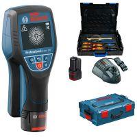 Скенер за стени Bosch D-Tect 120 Professional + комплект Gedore 26 бр. в L-Boxx / до 12 СМ.  1,5 Ah /