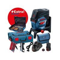 Линеен лазер Bosch GCL 2-50 C + RM2 +12V Bat. (L-boxx 136) + комплект Gedore 26 бр. в L-Boxx