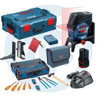 Линеен лазер Bosch GCL 2-50 C +RM3 +RC2 +12V Bat. (L-boxx 238) + комплект Gedore 26 бр. в L-Boxx