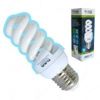 Лампа енергоспестяваща Klaus /45 W, E27, спирала, студена светлина/