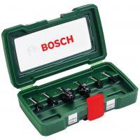 Комплект Bosch НМ фрезери /6 mm опашка, 6 части/