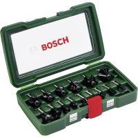 Комплект Bosch НМ фрезери /8 mm опашка, 15 части/