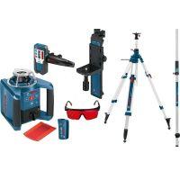 Ротационен лазарен нивелир Bosch GLR 300 HV  / 60 м , ± 0.1 мм/м  , GR 240 лата , BT 300 статив /