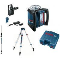 Ротационен лазарен нивелир Bosch GRL 500 HV + BT 170 HD Статив +GR 240 Лата +LR 50 приемник