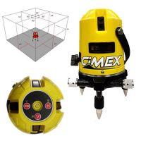 Лазарен нивелир с 5 лъча/самонивелиращ Cimex 1H4V / 10 м , 635 nm  /