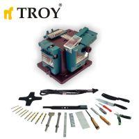 Универсална машина за заточване на инструменти с гъвкав вал Troy 17059 / 3 v 1 , 65 W  /