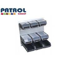 Метална стена PATROL Group + 9 контейнери /400х400х150 мм./