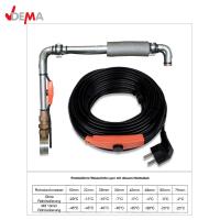 Нагревателен кабел DEMA 27502 защитаващ от замръзване, снабден с термостат /8 м./