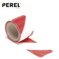 Сигнална лента Perel /червено и бяло, 100 мм x 80 мм./