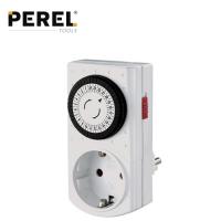 Контакт с мини таймер 24 часов PEREL E305DM-G