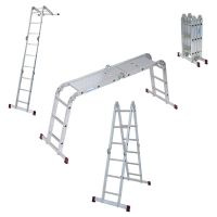 Алуминиева сгъваема многофункционална стълба с платформа KRAUSE CORDA 4х3 / 0,96/1,73/3,60 м /
