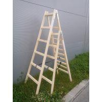 Дървена двураменна стълба OMS / 2,5 м , 7 /