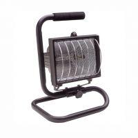 Прожектор халогенен с кабел и стойка Fervi 0346 /400 W, R7s, IP54/
