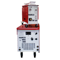 Телоподаващ заваръчен апарат HARCO MIG 350 + HARCO WF 520 /3х380V/50Hz, 40-350 A/