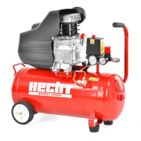 Електрически монофазен маслен компресор Hecht 2026, 1.5 kW, 184 л./мин., 8 бара, 24 л