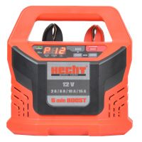 Зарядно устройство Hecht 2013, 12 V, 2-15 A, 4-300 Ah, функция BOOST- стартер