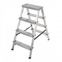 Алуминиева двураменна стълба DRABEST 2x4 / 0,8 м , 125 кг /