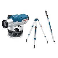 Комплект оптичен нивелир Bosch Gol 20 G + статив Bosch BT160 + лата Bosch GR 500 / 400 gon /