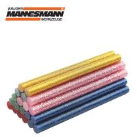Силиконови пръчки - цветни / с брокат, 20 бр. / Mannesmann 49312