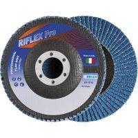 Диск сегментен от шкурка за метал и неръждавейка Fervi ф125 мм