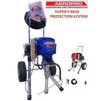 Професионална машина за безвъздушно шпакловане и боядисване AEROPRO SUPER V R650