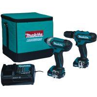 Комплект акумулаторни инструменти Makita CLX201SA/ Батерия 2 x BL1020B, зарядно устройство, чанта/