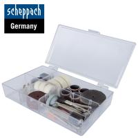 Комплект накрайници за гравиране и шлайфане Scheppach 3901402701/ 64 части /