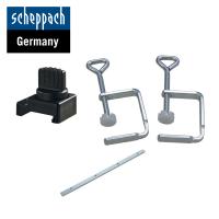 Комплект аксесоари за циркулярен трион  Scheppach PL305 / 2 бр. стяги, ограничител, свързващ елемент /
