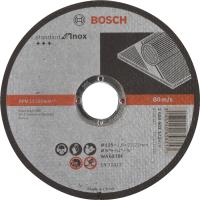 Диск за рязане, прав, Standard for Inox, Bosch, WA 60 T BF, 125 mm, 22,23 mm, 1,6 mm, комплект 25 броя