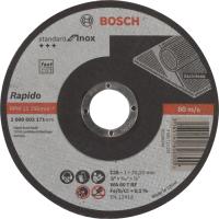 Диск за рязане, прав, Standard for Inox, Bosch, WA 60 T BF, 125 mm, 22,23 mm, 1,0 mm, комплект 25 броя