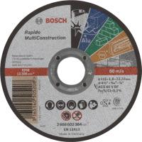 Диск за рязане, прав, Standard for Inox, Bosch, ACS 60 V BF, 115 mm, 1,0 mm, комплект 25 броя