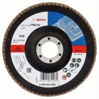 Ветрилообразен диск за шлайфане X431, Standard for Metal, Bosch, скосен, основа фибростъкло, 125x22.23mm, G40, комплект 10 броя