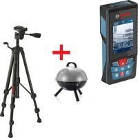 Лазерна ролетка Bosch GLM 120 C Professional /120 метра / + Статив BOSCH BT 150 Professional / 55 - 157 см /