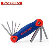 Комплект шестограми имперски мерки Workpro / 8 бр. /
