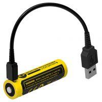 Батерия Nitecore NL1835R Protected с USB /3.6 V, 3500 mAh /