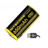 Батерия Nitecore NL1665R Protected с USB /3.6 V, 650 mAh /