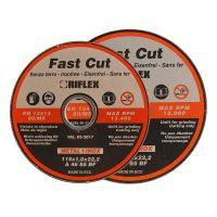 Диск карбофлексов за рязане на метал и инокс  Fervi Riflex / 125mm, 1,6mm /