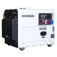 Трифазен обезшумен дизелов генератор Hyundai DHY8500SE-T  / 7.0 kW, ел. стартер /