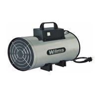 Газов калорифер Wilms GH 12 Inox/ 12 kW,  350 m3/h/
