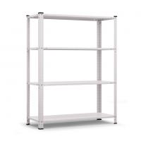 Стелаж метален бял Basic 40 1500/750/300/ 4 рафта х 40 кг/
