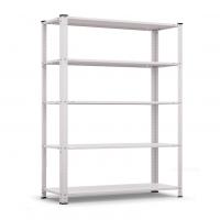 Стелаж метален бял Basic 50 1700/750/300/ 5 рафта х 40 кг/